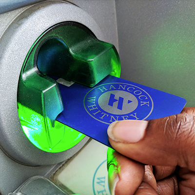Using your card at an ATM or online