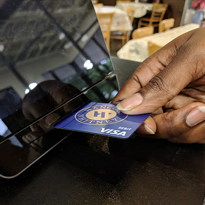 Paying in person