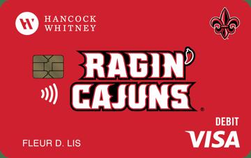UL Ragin Cajuns debit Card