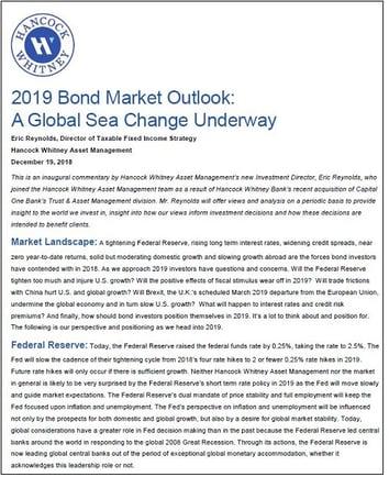 2019 Bond Market Outlook