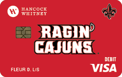 UL Ragin' Cajun Debit Card