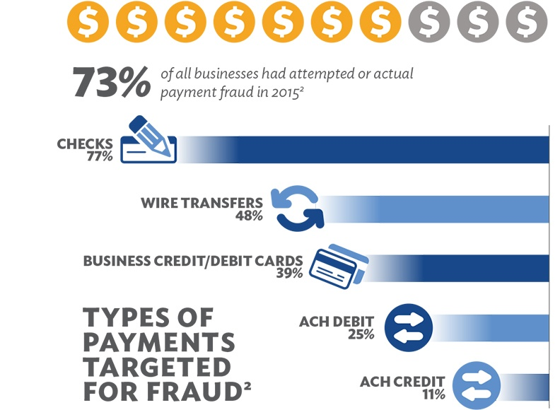Types of Payment Targeted for Fraud