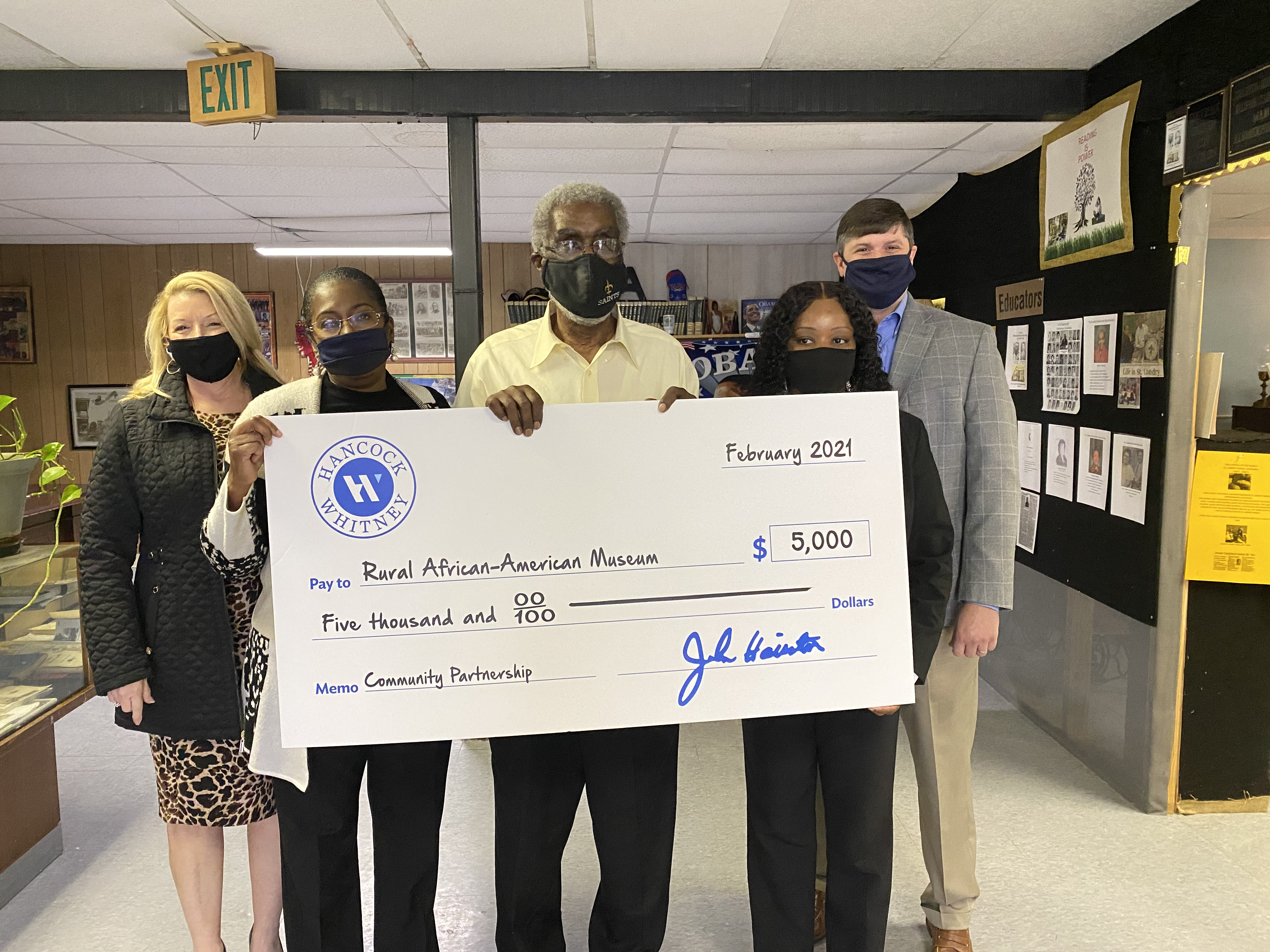 Hancock Whitney Donates $5K to Help Keep Rural African American Museum Open